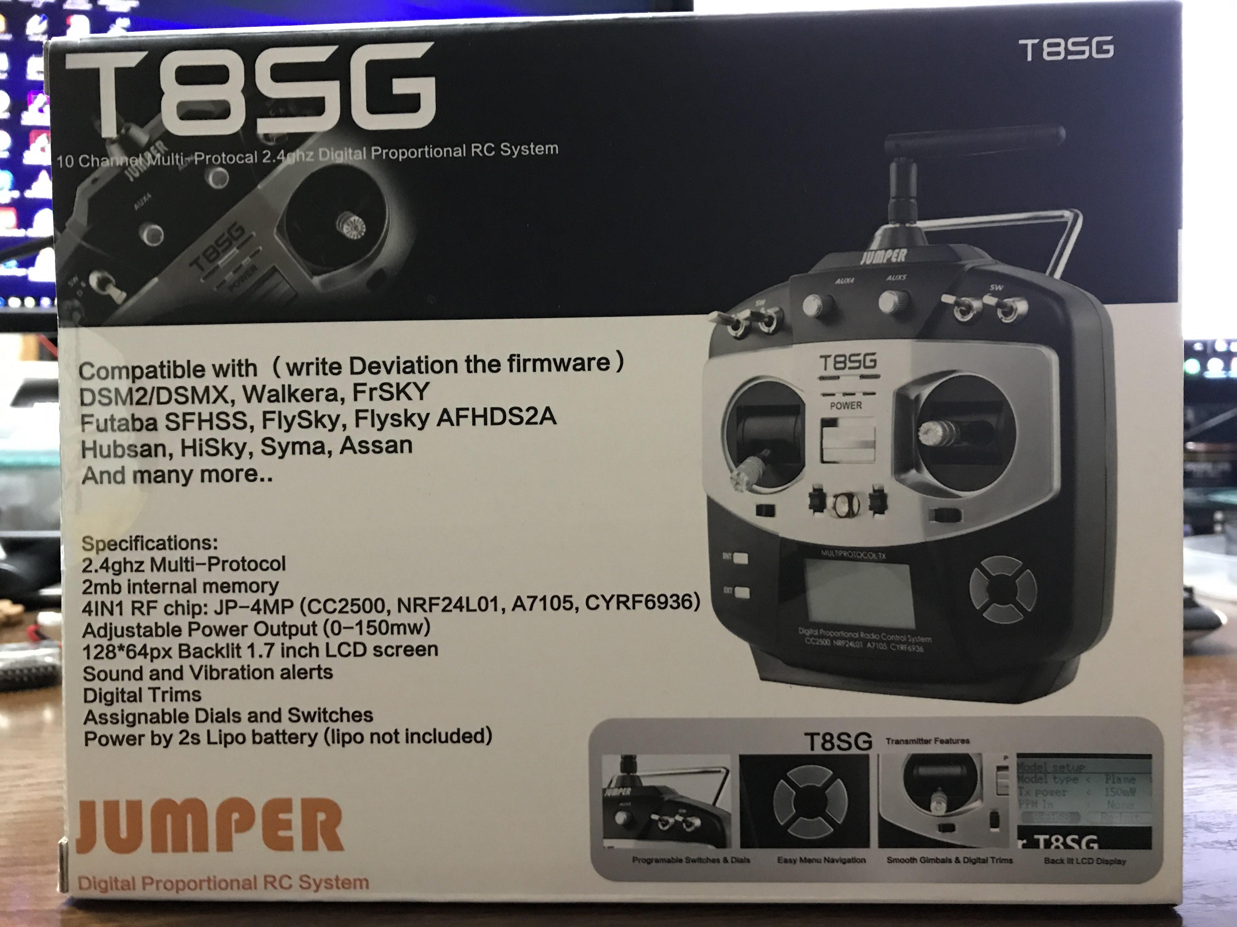 Jumper T8SG 買いました。トイドローン用に